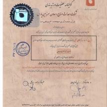 گواهینامه کانون مشاوران اعتباری و سرمایه گذاران بانکی960801